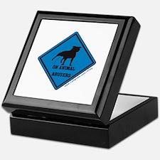 Piss On Animal Abusers Keepsake Box