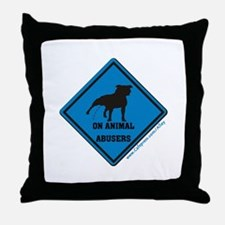Piss On Animal Abusers Throw Pillow