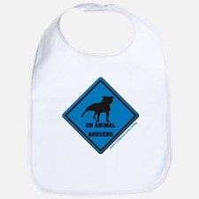 Piss On Animal Abusers Bib