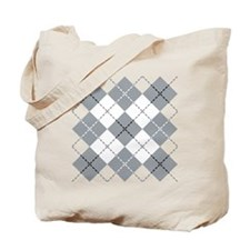 Argyle Design Tote Bag