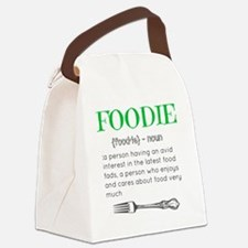 Foodie Definition  Canvas Lunch Bag