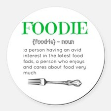 Foodie Definition  Round Car Magnet
