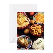 Potato Foods Greeting Card