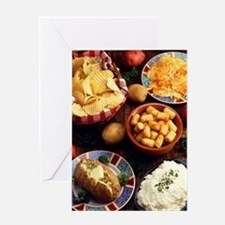 Potato Foods Greeting Card