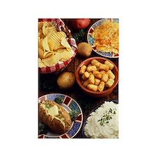 Potato Foods Rectangle Magnet