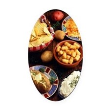 Potato Foods Oval Car Magnet