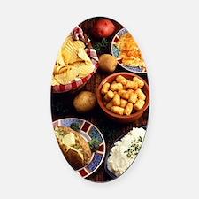 Potato Foods Oval Car Magnet