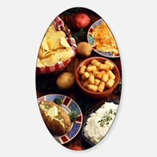 Potato Foods Sticker (Oval)