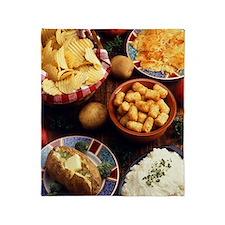 Potato Foods Throw Blanket
