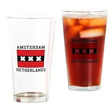 Amsterdam Netherlands Drinking Glass