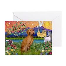 Vizsla in Fantasyland Greeting Card