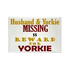 Husband & Yorkie Missing Rectangle Magnet