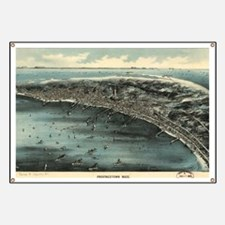 Vintage Pictorial Map of Provincetown (1910 Banner