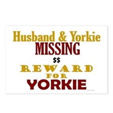 Husband & Yorkie Missing Postcards (Package of 8)