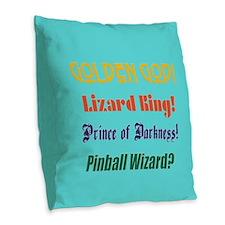 Cute Prince musician Burlap Throw Pillow