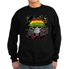 Jamaican Rasta Skull Sweatshirt