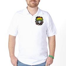 Jamaican Rasta Skull T-Shirt