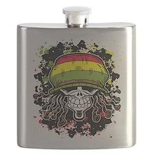 Jamaican Rasta Skull Flask