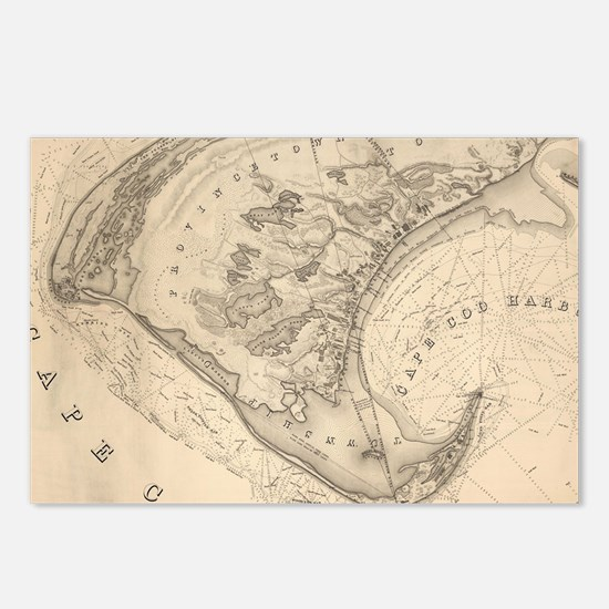 Vintage Map of Provinceto Postcards (Package of 8)