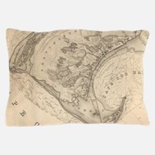 Vintage Map of Provincetown (1836) Pillow Case