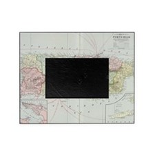 Vintage Map of Puerto Rico (1901) Picture Frame