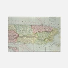 Vintage Map of Puerto Rico (1901) Rectangle Magnet