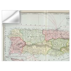 Vintage Map of Puerto Rico (1901) Wall Decal