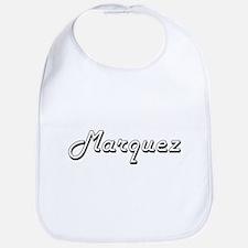 Marquez surname classic design Bib
