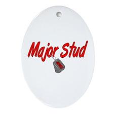 USCG Major Stud Oval Ornament