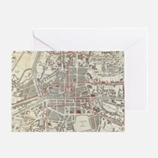 Vintage Map of Rennes France (1905) Greeting Card