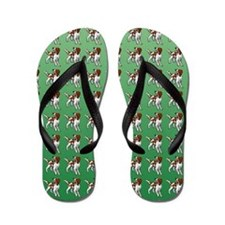 Irish Red and White Setter Pattern Flip Flops