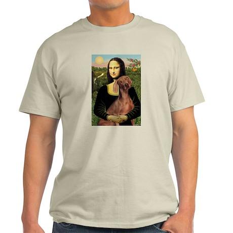 Mona Lisa (new) Weimaraner Light T-Shirt