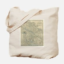 Vintage Map of The Richmond Virginia Area Tote Bag