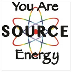 YOU ARE SOURCE ENERGY Framed Print