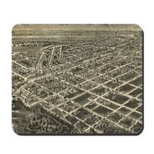 Vintage Pictorial Map of Rocky Mount NC  Mousepad
