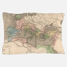 Vintage Map of The Roman Empire (1838) Pillow Case