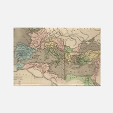 Vintage Map of The Roman Empire ( Rectangle Magnet
