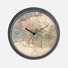 Vintage Map of The Roman Empire (1838) Wall Clock