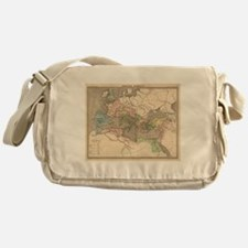 Vintage Map of The Roman Empire (183 Messenger Bag