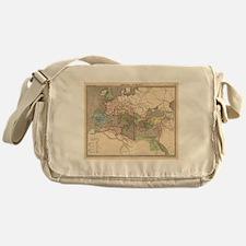 Vintage Map of The Roman Empire (183 Messenger Bag