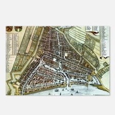 Vintage Map of Rotterdam  Postcards (Package of 8)
