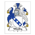 Westby Family Crest Small Poster