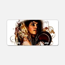 St. Joan of Arc: Fleur de L Aluminum License Plate