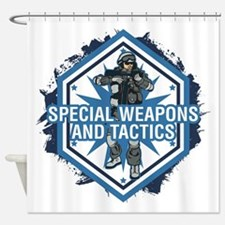 Special Weapons and Tactics Shower Curtain