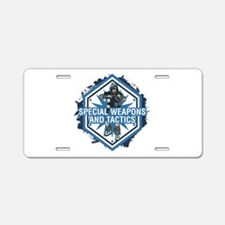Special Weapons and Tactics Aluminum License Plate
