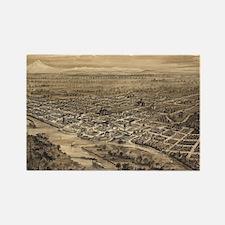 Vintage Pictorial Map of Salem Or Rectangle Magnet