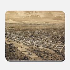 Vintage Pictorial Map of Salem Oregon (1 Mousepad