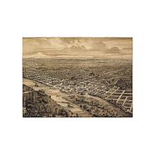 Vintage Pictorial Map of Salem Oreg 5'x7'Area Rug