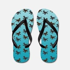 Flat Coated Retriever Pattern Flip Flops