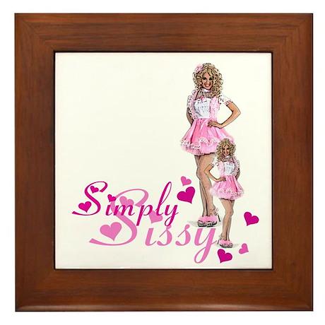 Simply Sissy Framed Tile